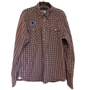 EUC Scotch & Soda Plaid Snap Button Shirt size XL